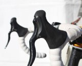 The RRL levers are $89.99 and 272 grams. They have hints of both Campagnolo and Shimano styling. Cyclocross, @ Interbike 2010.  Cyclocross Magazine