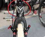 Avid Shorty Ultimates are the only option for this SRAM intern. © Cyclocross Magazine