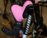 What else? Pink SRAM Red hoods keep a consistent fashion statement. © Cyclocross Magazine