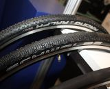 Schwalbe's tubulars now adds about 1mm more to its width and height, and adds a Sammy Slick tread option to its growing tubular line-up. Cyclocross Tires at Interbike 2011. © Cyclocross Magazine