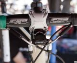 TRP Parabox Hydraulic brake system converts mechanical drop levers to hydrolics at the base of the stem. © Cyclocross Magazine