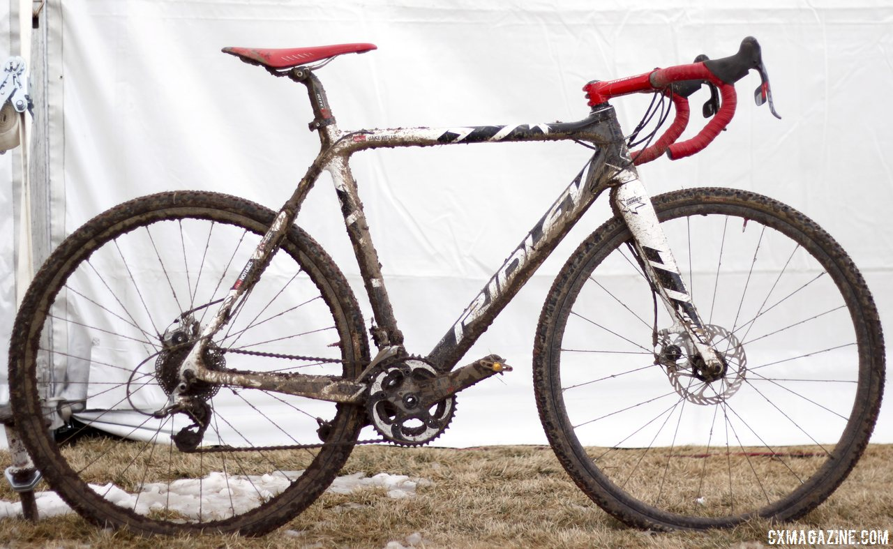 Jake Wells\' Ridley X-Fire Disc cyclocross bike. © Cyclocross Magazine
