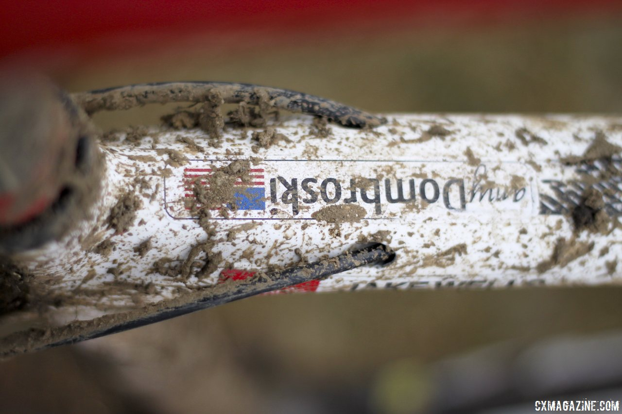 Never forget - Jake Wells\' Ridley X-Fire Disc cyclocross bike. © Cyclocross Magazine