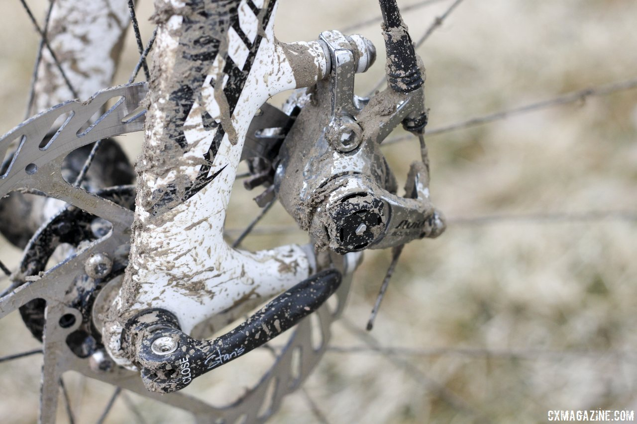 Avid BB7 Road SL disc brake on Jake Wells\' Ridley X-Fire Disc cyclocross bike. © Cyclocross Magazine