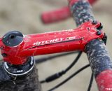 A striking wet red Ritchey C260 WCS stem - Jake Wells' Ridley X-Fire Disc cyclocross bike. © Cyclocross Magazine