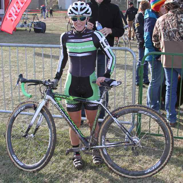 Kaitie Antonneau came in 4th on Day 3 and enjoyed her Jingle Cross weekend © Amy Dykema