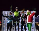 Berden, Driscoll, Jones and the Grinch top the podium Day 1 of Jingle Cross. © Elisabeth Reinkordt