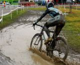 Ben Berden slices through the mud. ©Nolan Wehr