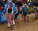 Stybar chooses to ride as the others run up the sand dunes © Jonas Bruffaerts