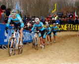 Rob Peeters leads the all-Belgian pack © Jonas Bruffaerts