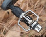 Crank Brothers Eggbeater pedal with electrical tape shimming to dial in the fit for Fountain.