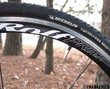 Rolf Prima VXC clincher wheelset, Michelin Mud 2 tires, taped valve stems to keep from rattling.