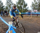 Nate Morse looked to have second locked up before stomach cramps. © Cyclocross Magazine