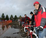 Tim Rutledge of Redline was a proud sponsor after half a lap.  © Cyclocross Magazine