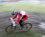 A Rad Racing junior flies through the horsehoe corner. © Cyclocross Magazine