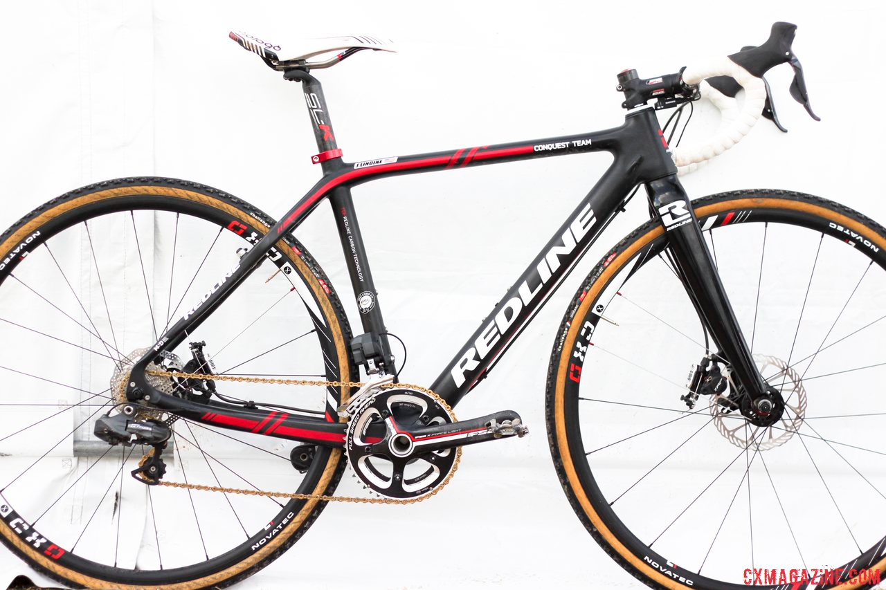 2014 Masters 30-34 National Champion Justin Lindine\'s Redline Conquest Team Disc cyclocross bike. © Cyclocross Magazine