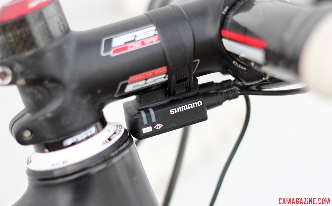Lindine says he\'s a believer in electronic shifting after spending the season on Shimano Ultegra 6770 Di2 electronic shifting. © Cyclocross Magazine