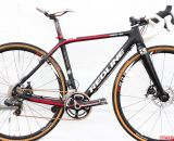 2014 Masters 30-34 National Champion Justin Lindine's Redline Conquest Team Disc cyclocross bike. © Cyclocross Magazine