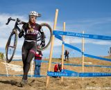 Katerine Kelter (University of Kansas) suffered a mechanical on the first lap.  ©Brian Nelson