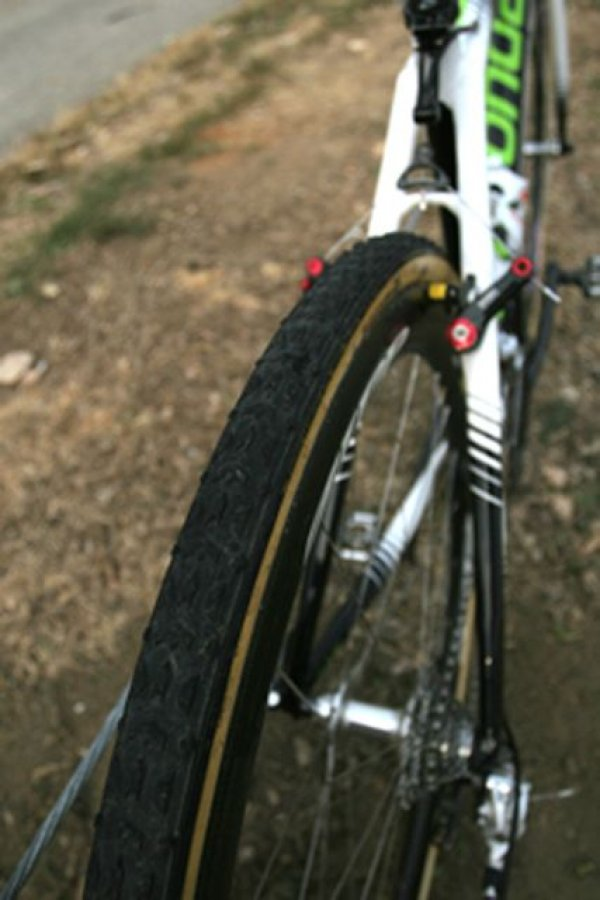 A Dugast Typhoon was the rear tire choice for Antonneau in Louisville © 2010 Matt James