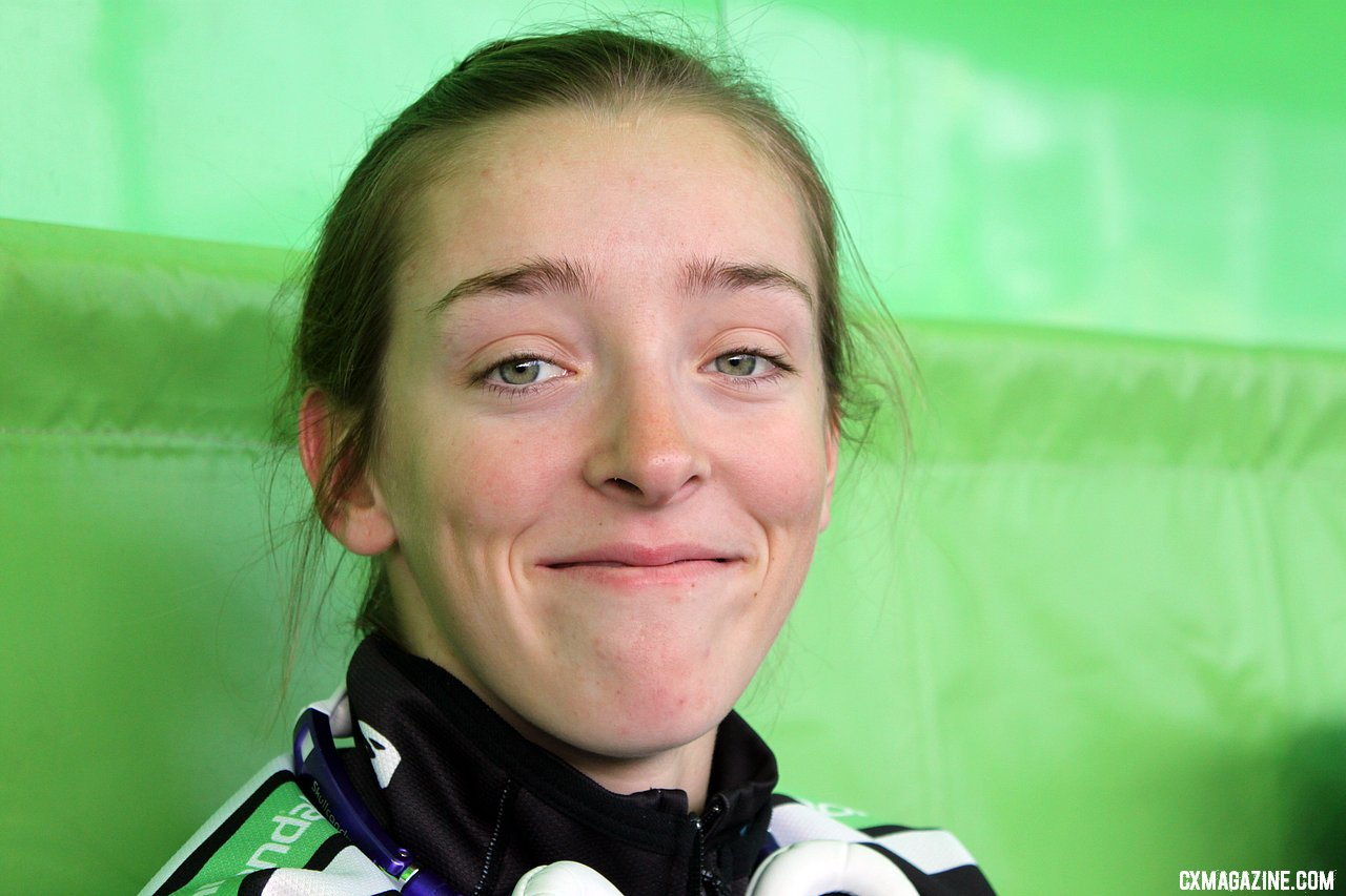 Kaitlin Antonneau was all smiles in Bend before her U23 title attempt. © Cyclocross Magazine