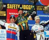 The men's podium: Nys, Stybar, Albert - the same personnel as Worlds 2009. © Bart Hazen.