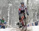 Helen Wyman negotiates the tricky, snowy course. ? Bart Hazen