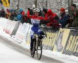 Daphny van den Brand takes the win at the 2009 Kalmthout Cyclocross World Cup. ? Bart Hazen
