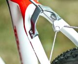 The 2012 Orbea Terra cyclocross bike features a metal rear cable stop bolted to the frame. © Motofish Images