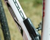 Katerina Nash's Orbea Terra cyclocross bike with a downtube-mounted Shimano Di2 battery. © Motofish Images