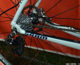 The new SRAM Red 22 cassette and hydraulic disc brakes on Katie Compton's Trek Crockett. © Cyclocross Magazine