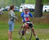 Powers talks to a parent © Cyclocross Magazine