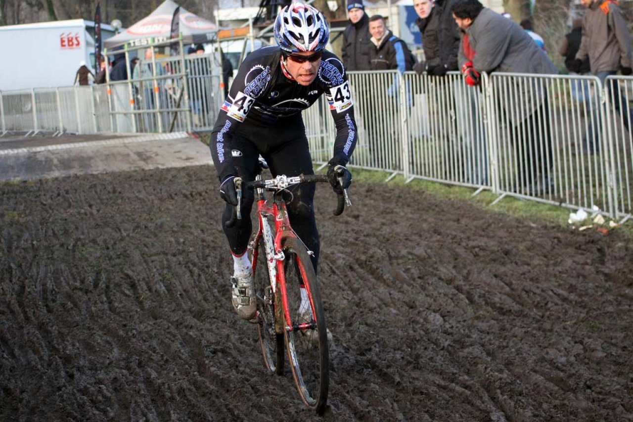 Jon Page finished Koksijde bruised, but not broken. © Bart Hazen