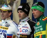 Stybar (l), Albert and Nys on the podium. © Bart Hazen