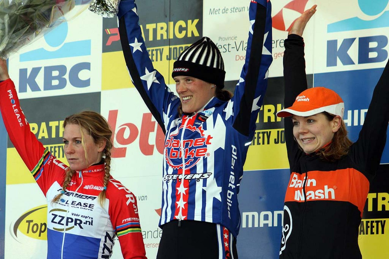 Van den Brand (l), Compton and Van Paassen on the podium. © Bart Hazen