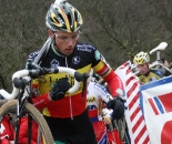Sven Nys had early struggles before nearly winning the sprint. Koksijde Elite Men World Cup 11/28/2009 ?Bart Hazen