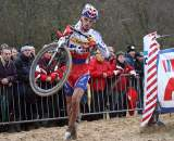Stybar running for his third win. Koksijde Elite Men World Cup 11/28/2009 ?Bart Hazen