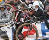 Page giving chase after double flatting. Koksijde Elite Men World Cup 11/28/2009 ?Bart Hazen