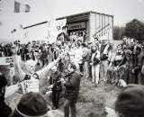 Godfather of Koppenbergcross, Peter Van Den Abeele, winning the race.  photo: courtesy