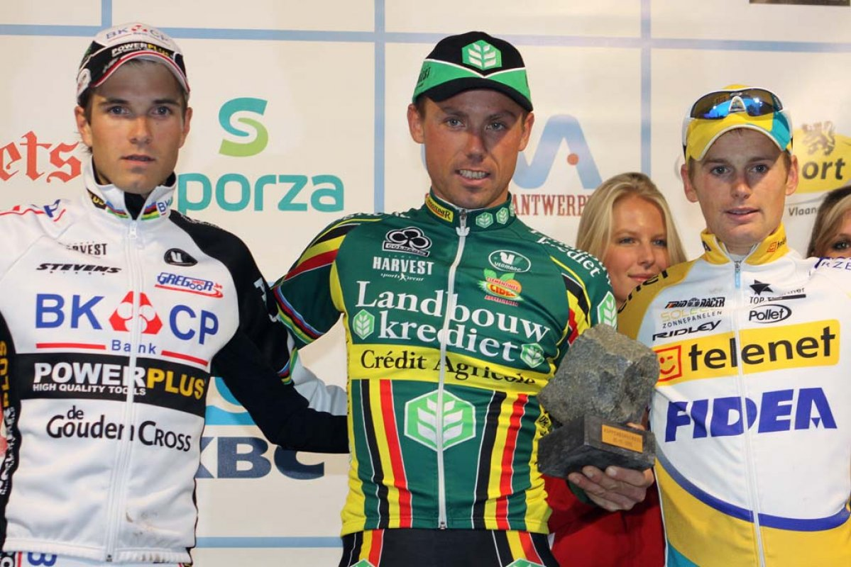 Albert (l), Nys and Pauwels on the podium. © Bart Hazen