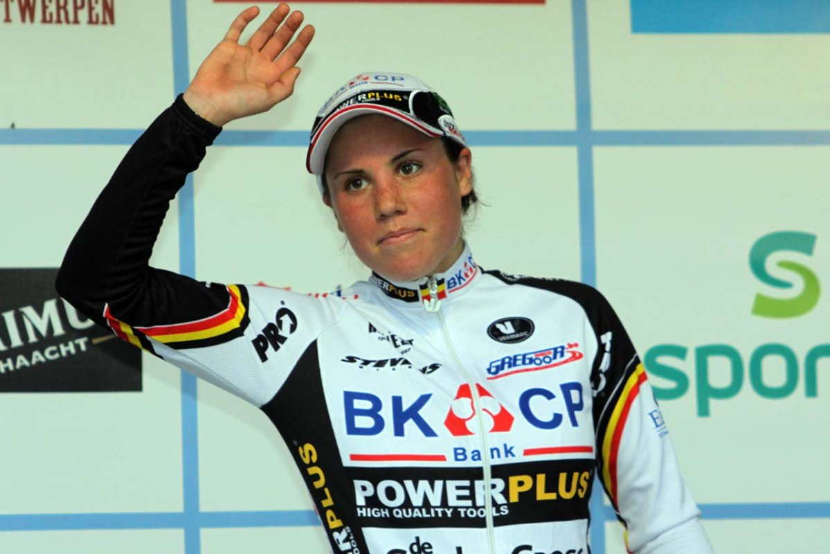 Sanne Cant on the podium © Bart Hazen