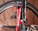 The LaPierre Cross Carbon has a fork that can accommodate disc and canti brakes. © Cyclocross Magazine