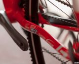 Sharp edges of the chainstays are designed to shed mud. LaPierre Cross Carbon. © Cyclocross Magazine