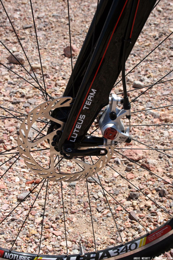 Disc-brake equipped frame. © Cyclocross Magazine