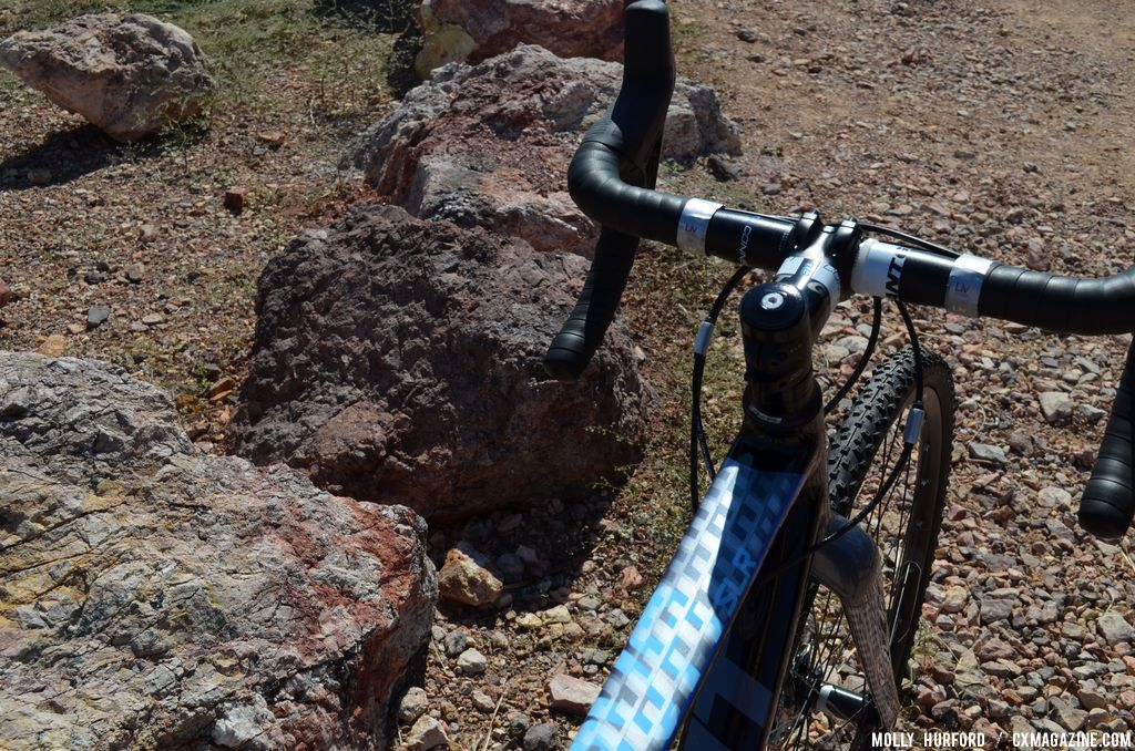 Black and blue are far from \'girly\' colors on the Liv/Giant Brava SLR. Interbike 2013 © Cyclocross Magazine