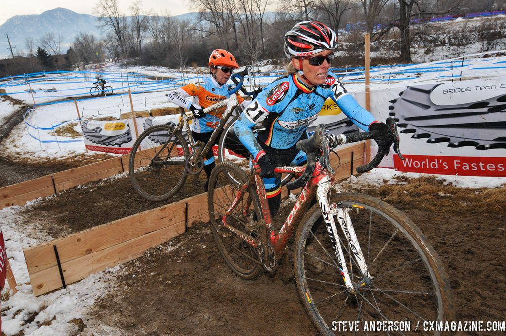 in the Masters Women 45-49 and 50-54 Lucido in the 45-49 and 50-54 at the 2014 National Cyclocross Championships. © Steve Anderson