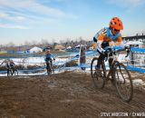 in the Masters Women 45-49 and 50-54 Trombley putting pressure on the field in the 45-49 and 50-54 at the 2014 National Cyclocross Championships. © Steve Anderson