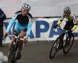 Mike Teunissen leads David Van Der Poel. ? Dan Seaton