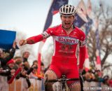 Owen with the win in U23 2014 Cyclocross National Championships. © Steve Anderson