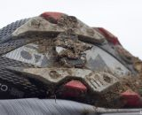 The cleat does collect mud but didn't prevent clip-ins. Look S-Trck mtb / cyclocross pedal reviewed. © Cyclocross Magazine